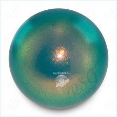 RSG Ball Pastorelli Wettkampfball 18cm FIG Gymnastikball Glitter HV Emerald