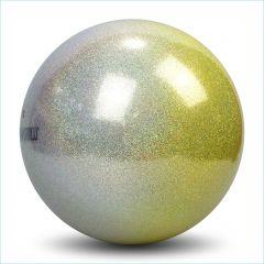 Ball Pastorelli FIG 18cm Glitter HV Silber-Gelb