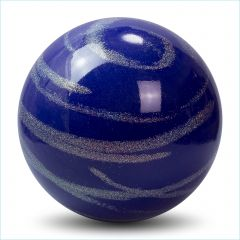 Ball Pastorelli Kiss&Cry RSG Wettkampfball 18cm FIG Glitter Blau-Silber