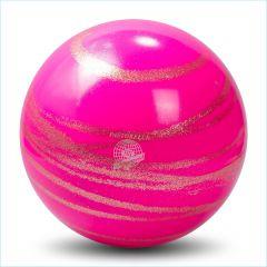 Ball Pastorelli Kiss&Cry RSG Wettkampfball 18cm FIG Glitter Rosa-Gold