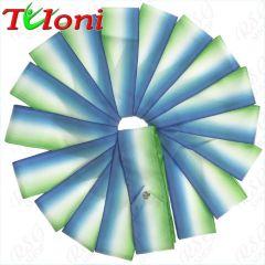 Лента Tuloni цв. Синий-Белый-Зелёный