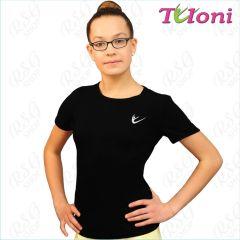 T-Shirt Tuloni FG007LC-B mit Logo Black