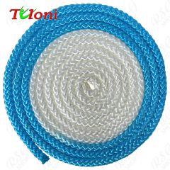 Seil Tuloni Bi-col. Neon Blau-Weiß