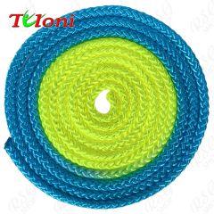Seil Tuloni Bi-col. Neon Blau-Gelb