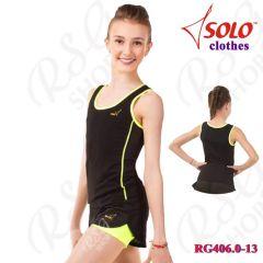 Top Solo Cotton Black-Yellow RG406.0-13