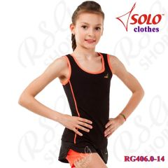 Top Solo Cotton Black-Orange RG406.0-14