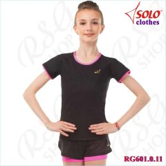 T-Shirt Solo col. Black-Neon Pink Art. RG601.0.11