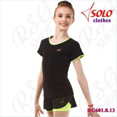 T-Shirt Solo Cotton Black-Lime Neon RG601.0.13