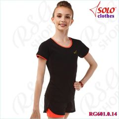 T-Shirt Solo Cotton Black-Orange RG601.0.14