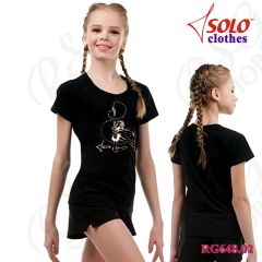 T-Shirt Solo Cotton Black RG648.02-107