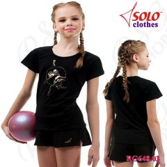 T-Shirt Solo Cotton Black RG648.03-107