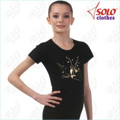 T-Shirt Solo Cotton col. Black Art. RG648.05-107