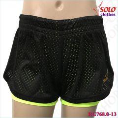 Двойные шорты Solo Black-Lime Neon RG768.0-13
