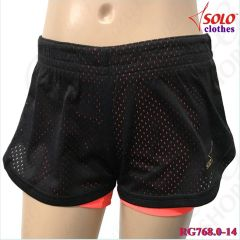 Двойные шорты Solo Black-Orange RG768.0-14