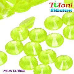Strass Tuloni col. Neon Citrine No HotFix Flat Back