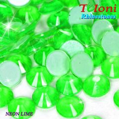 Strass Tuloni col. Neon Emerald No HotFix Flat Back