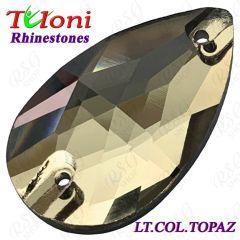 Strass Tuloni 10 pcs Light Colorado Topaz 18x10/28x17 Pear Sew-On Flat Back