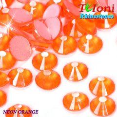 Strass Tuloni col. Neon Orange No HotFix Flat Back