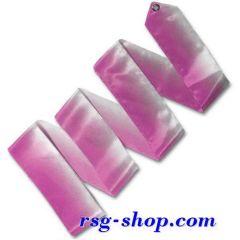 Zweifarbiges Band 5m in Weiß-Rosa T0883