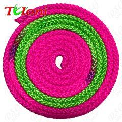 Seil Tuloni Bi-col. Pink-Grün-Pink