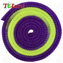 Seil Tuloni Bi-col. Violett-Gelb-Violett