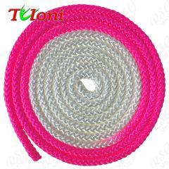 Seil Tuloni Bi-col. Neon Pink-Weiß