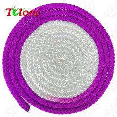 Seil Tuloni Bi-col. Neon Violett-Weiß