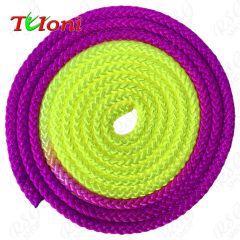Seil Tuloni Bi-col. Neon Violett-Gelb