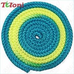 Seil Tuloni Bi-col. Neon Blue-Yellow-Neon Blue Art. T0981