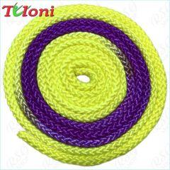 Seil Tuloni Bi-col. Neon Yellow-Viola-Neon Yellow Art. T0983