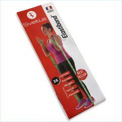 Übungsanleitung Sveltus Elastiband® Fitness Gymnastik Poster in 18 Sprachen