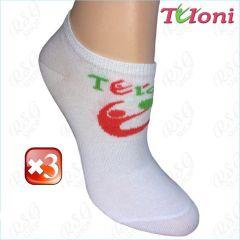 3x Paar RSG Socken Tuloni Logo col. White-Coral Art. T0973-3C