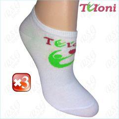 3x Paar RSG Socken Tuloni Logo col. White-Green Art. T0973-3G