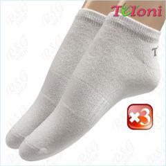 3er Socken-Set Tuloni Logo col. White Art. T0975-3W