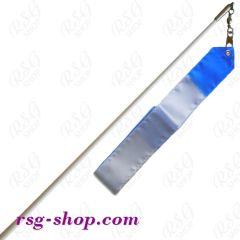 Weißer Stab 60cm & Band 5/6m in Weiß-Blau incl. Griff
