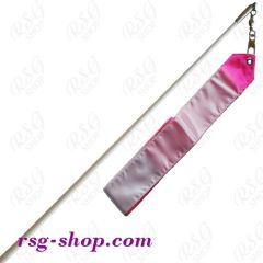 Weißer Stab 60cm & Band 5/6m in Weiß-Pink incl. Griff