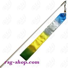 Weißer Stab 60cm & Band 6m in Yellow-Blue-Green-White incl. Griff