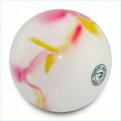 RSG Ball Tuloni T0108 Metallic-Multicolor Weiß / Rosa / Gelb 18 cm