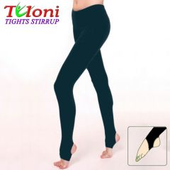 Dance Stirrup Tights Tuloni T0957 col. Black, 100 DEN