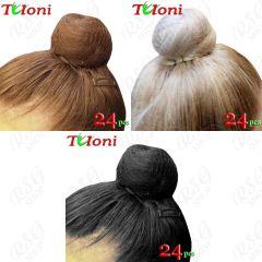 24 x Unsichtbares Haarnetz Tuloni Blonde/Brown/Black