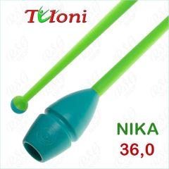 Einsteckbare Keulen 36cm mod. Nika bi-col. Turquoise x Green Art. T1009