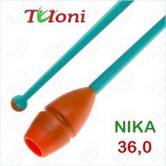 Einsteckbare Keulen 36cm mod. Nika bi-col. Orange x Turquoise Art. T1007
