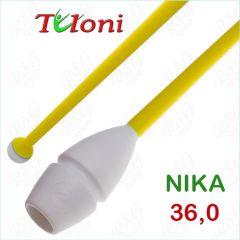 Einsteckbare Keulen 36cm mod. Nika bi-col. White x Yellow Art. T0145
