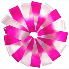 Лента Tuloni цв. Белый-Розовый