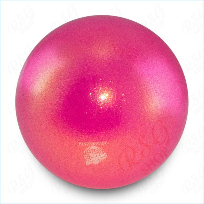Ball Pastorelli FIG 18cm Glitter HV Rosa Fluo