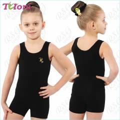 Tuloni BSH01CLL-B Trainingsanzug für RSG, Tanzen und Ballett in Schwarz